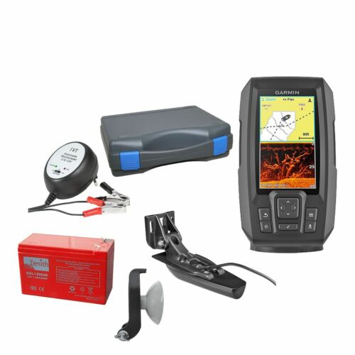 Garmin STRIKER Plus 4cv Echolot /& Fishfinder mit ClearVü Portabel Set-2