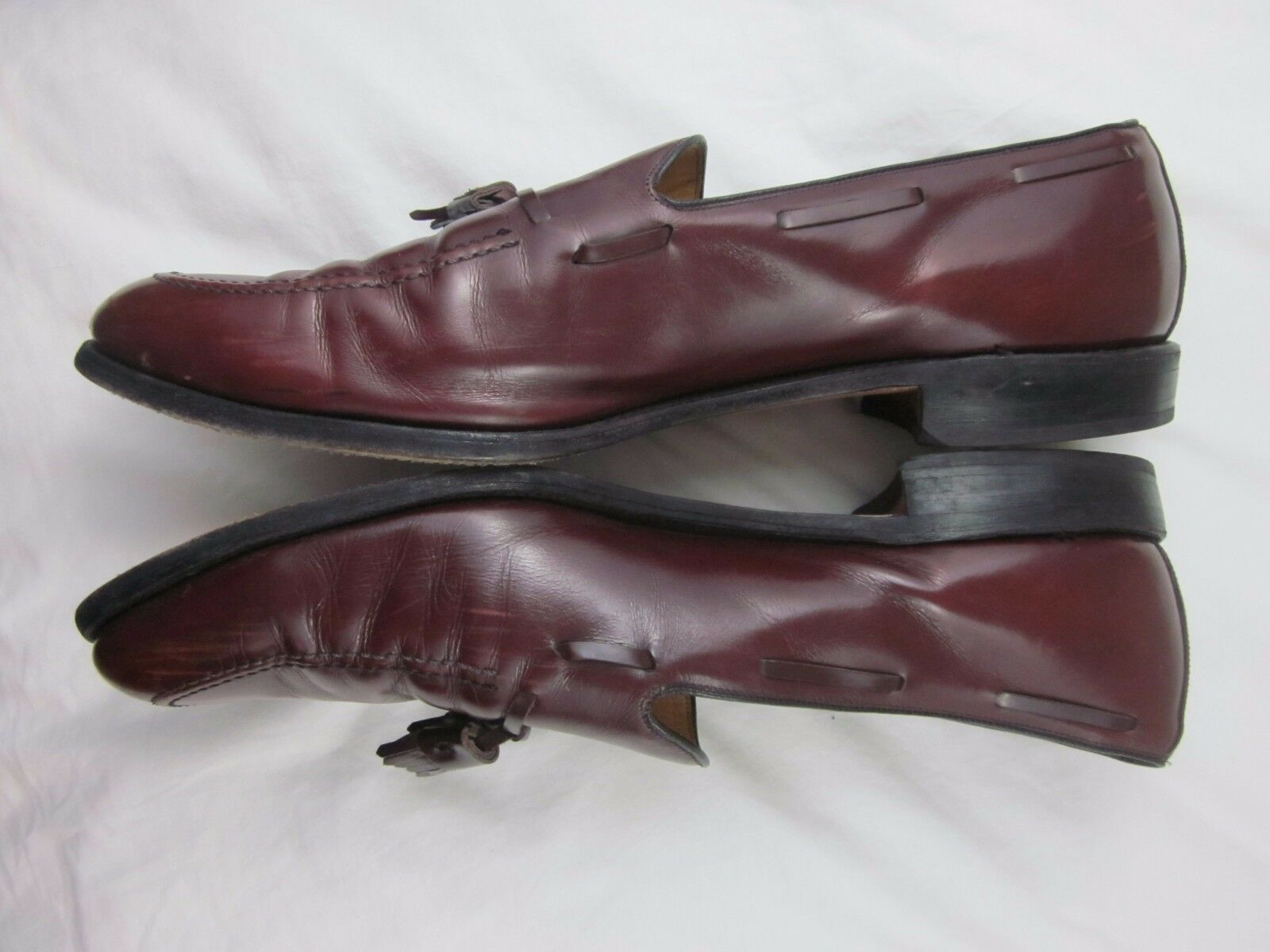 Allen Edmonds Grayson Tassel Loafers Dress Schuhes Burgundy C Leder  Herren Größe 14 C Burgundy 5a35b4