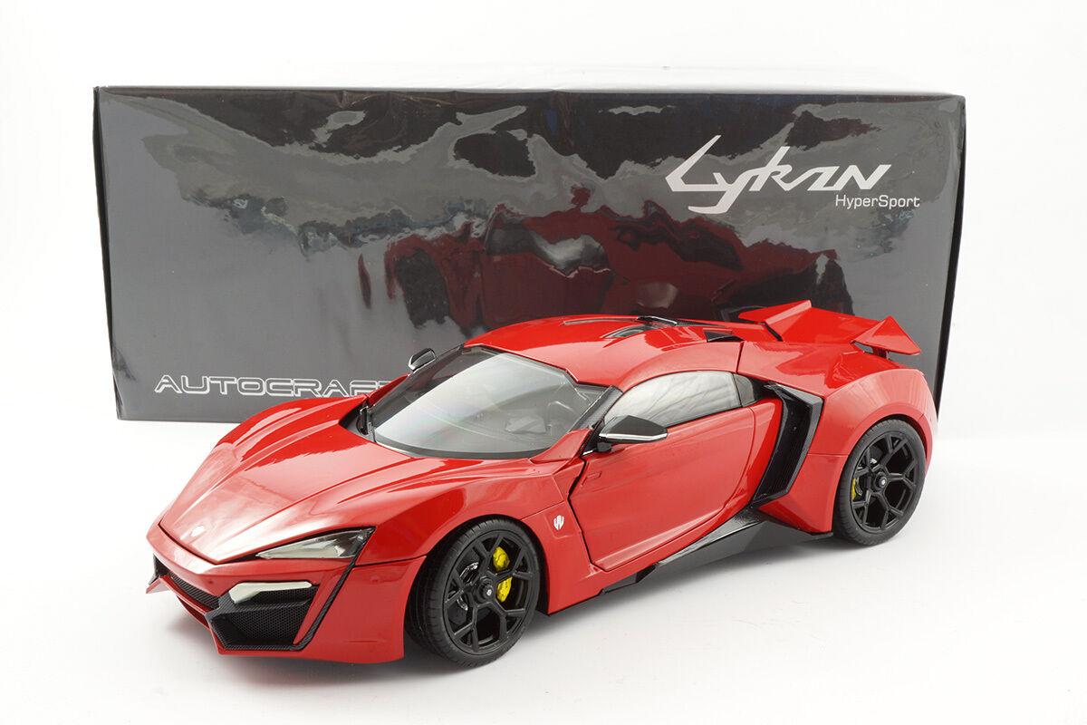 Autocraft lykan Hypersport (W Motors) - Red Red - 1 18