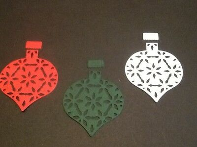 6 x Poinsettia Marconi Ornament Bauble die cuts **FREE UK POSTAGE**
