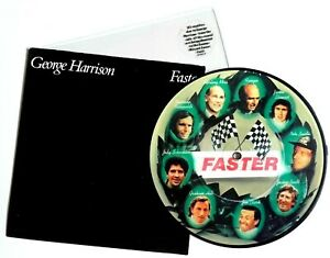 NM-NM-GEORGE-HARRISON-FASTER-7-034-VINYL-PICTURE-DISC-THE-BEATLES