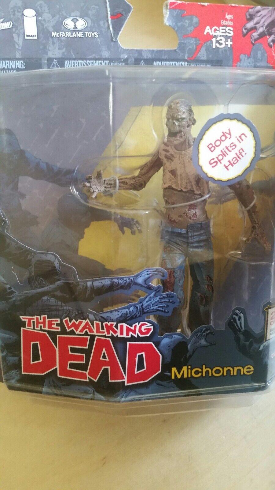 die seltenen fehldruck kasten  walking dead zombie schnüffler abbildung mcfarlane serie michonne