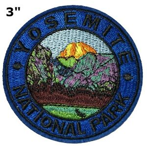 """Yosemite National Park California Embroidered 3.5/"""" Patch Iron or Sew-On Applique"""
