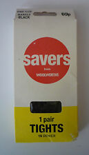 ONE PAIR OF WOOLWORTHS TIGHTS - ONE SIZE COLOUR - BARELY BLACK - NEW
