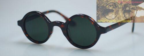 Vintage Johnny Depp sunglasses round eyeglass mens tortoise G15 polarized lenses