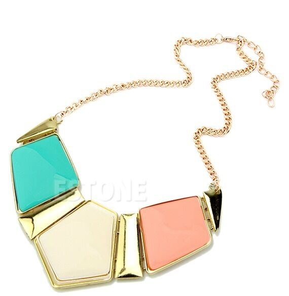 Women's Retro Necklace Vintage Bib Statement Necklace Chain Chunky Collar Party