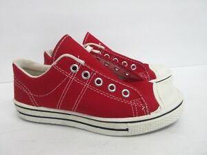 8f5d78bd8019b Vintage Retro Converse in Red Canvas 60s/70s Kids' Size: 3.5 ...