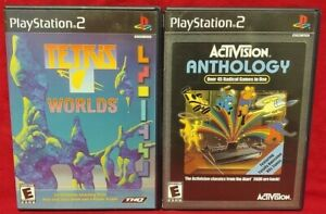 Tetris Worlds + Activision Anthology PS2 Playstation 2 Game Lot 1 Owner Complete