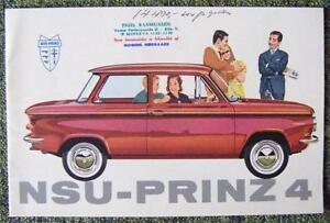 NSU-PRINZ-4-CAR-SALES-BROCHURE-CIRCA-1962-REF-7125-DANISH-TEXT