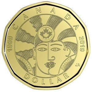 Canada 2019 BU 1 Dollar Canadian Loonie from mint roll