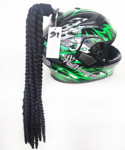 Motorcycle Helmet Braids Pigtails 22inch Helmet Ponytails Suction Cup Pigtails