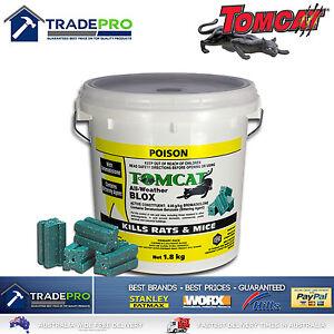 Tomcat Ultra All Weather Blox 1.8kg PRO Rat Bait Mouse Trap Poison Rodent Killer