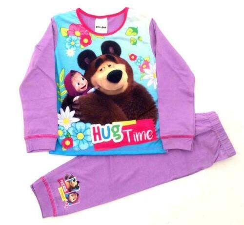 character nightwear pjs 18mths 5yrs Girls MASHA AND THE BEAR pyjamas pjs