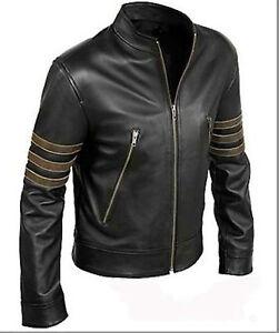 X-Men-Wolverine-Origins-Biker-Logan-Black-Real-Cow-hide-Leather-Jacket