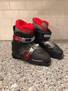Salomon-Kids-Youth-Ski-Boots-Performa-T2-Size-21-0-US-2-UK-1-1-2-33-2-3-EU-Blk