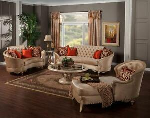Charmant Image Is Loading Luxury Silk Chenille Solid Wood Formal Sofa Set