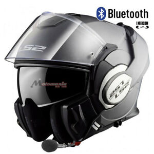 Casco-de-Moto-Modular-LS2-FF399-Valiant-Titanium-Mate-BLUETOOTH-Integrado