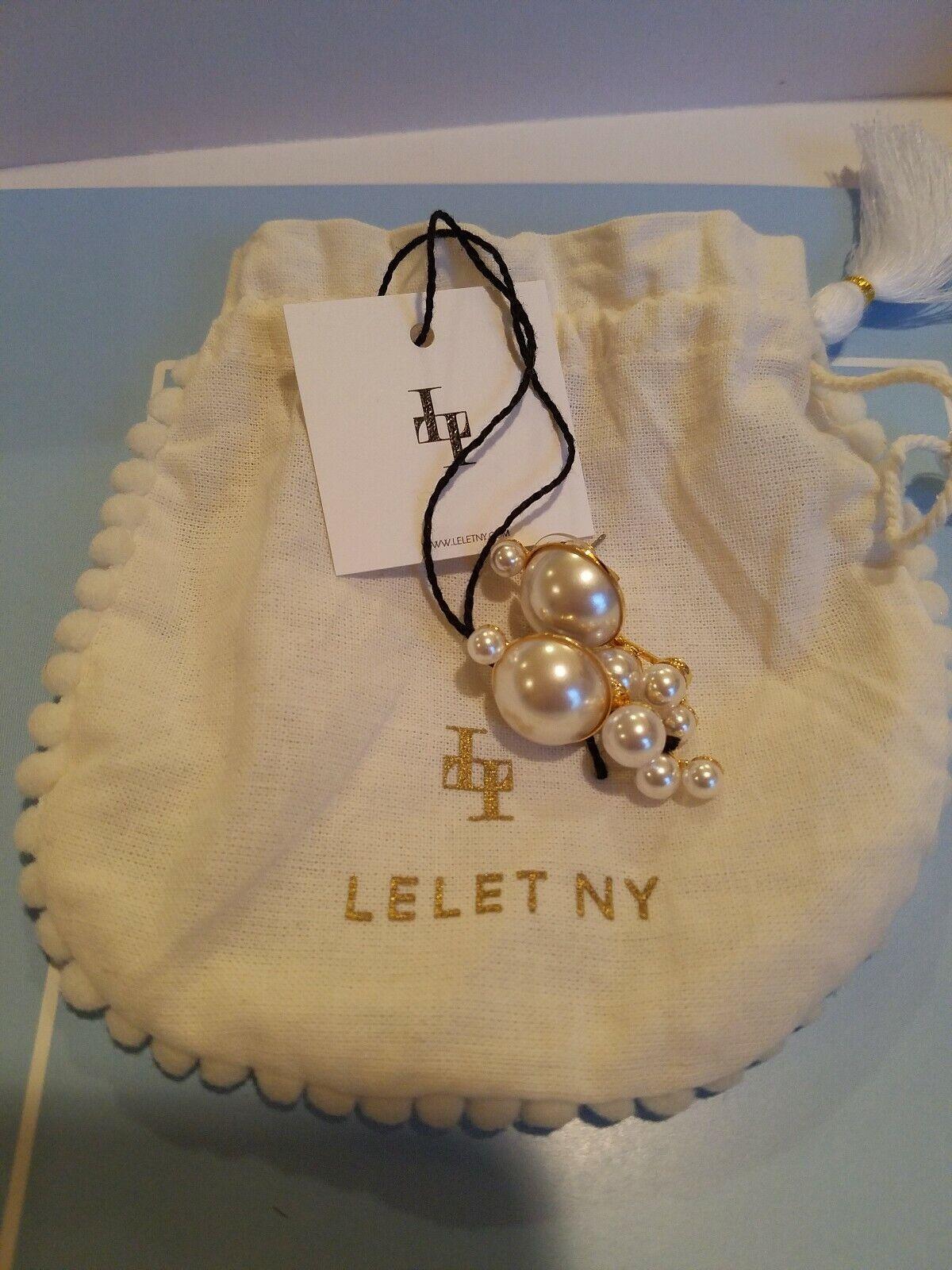 Brand New Lelet NY Mercury Pearl Studs, Luxor