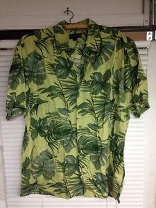 9431be59342 Image is loading Club-Room-Charter-Club-Silk-Hawaiian-Shirt-Mens-