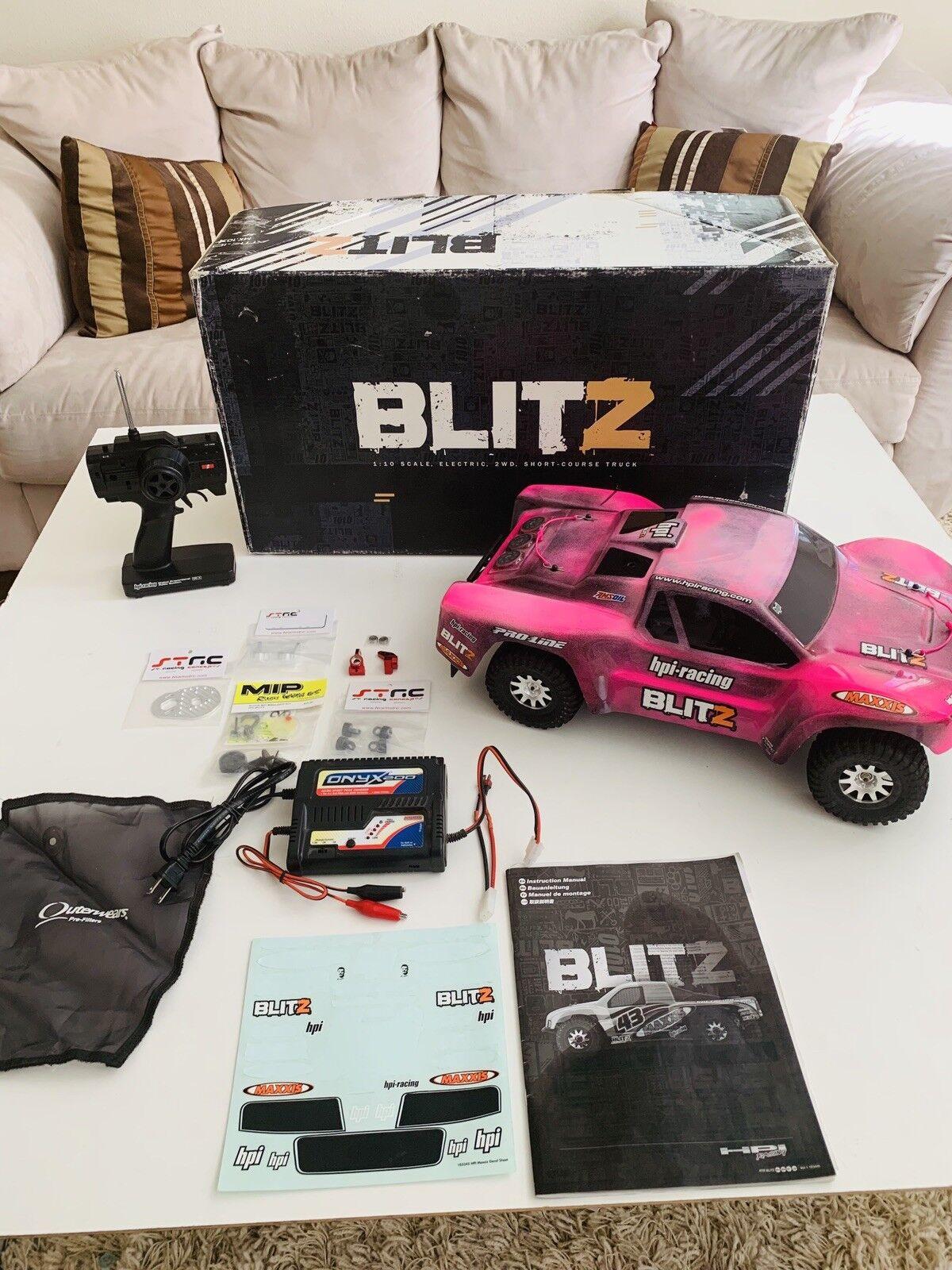HPI BLITZ SCT 1 10 med extra RTR-nya delar, Egen kropp, Truck korts Rc