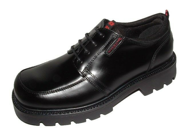 NEU Dockers Herrenschuhe Leder-Schuhe Schnürer Halbschuhe Boots 115702 Schwarz