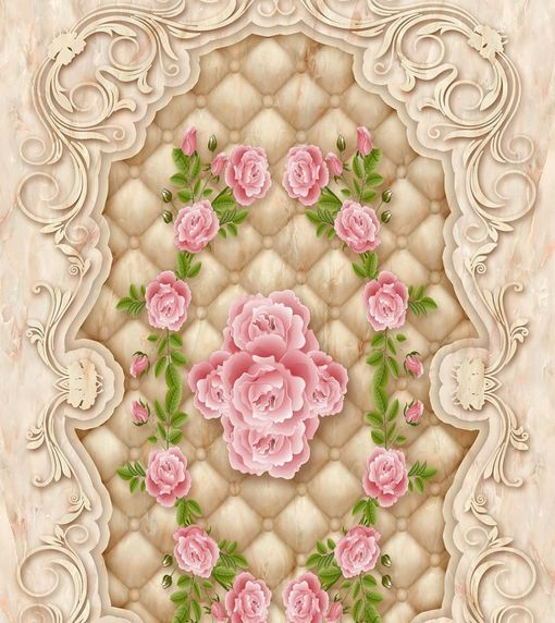 3D Romantic Flower Art Floor WallPaper Murals Wall Print Decal 5D AJ WALLPAPER