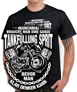 biker t shirt motorrad fahrer tankf llung sprit klar. Black Bedroom Furniture Sets. Home Design Ideas
