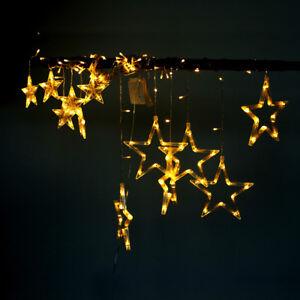 Led Fenster Weihnachtsbeleuchtung.Details Zu Led Lichtervorhang Weihnachtsbeleuchtung Lichterkette Licht Fenster Deko Sterne