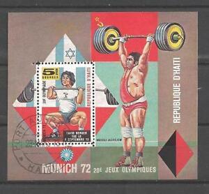 Olympische-Spiele-Sommer-Haiti-67-Block-entwertet