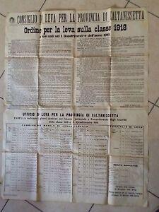 Caltanissetta-Manifesto-Ordine-per-la-Leva-Classe-1918