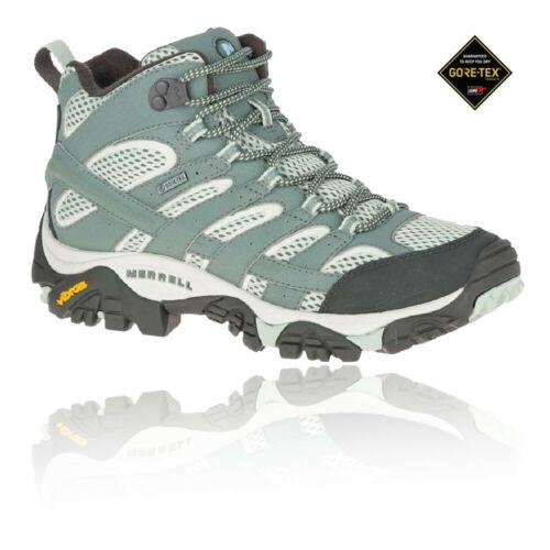 Merrell Femmes Moab 2 Mid Gore-Tex Walking Boots-Bleu Sports Outdoors