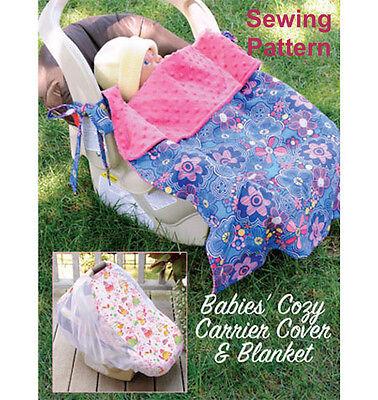 Kwik Sew K3923 Pattern Babies Cozy Carrier Cover /& Blanket OSZ BN