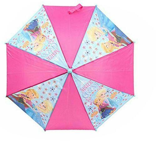 Children/'s Disney Frozen II Umbrella Kids Girls Purple Pink Travel Brolly 3462