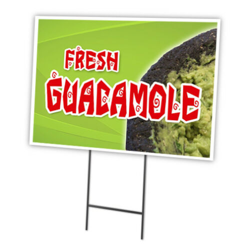 GUACAMOLE Yard Sign /& Stake outdoor plastic coroplast window
