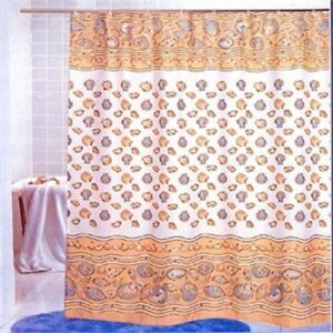 Image Is Loading Southbeach Seashell Fabric Shower Curtain Nautical Decor