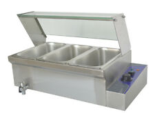 110v 1500w 6inch Deep 3 Pot Bain Marie Buffet Food Warmer With 13pan Brand New