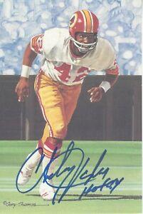Charley Taylor Washington Redskins  Autographed Goal Line Art  Pro Football HOF