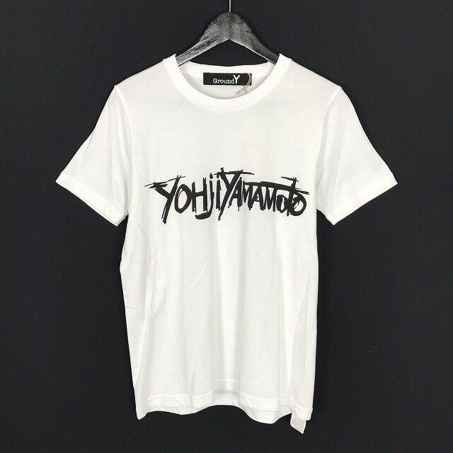 Yohji Yamamoto Ground Y graphic T-hemd Weiß NWTs (001-037)
