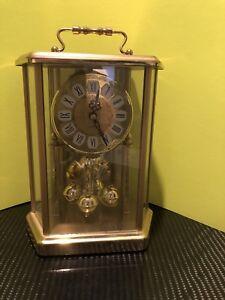 Vintage-Elgin-Quartz-Battery-Powered-Anniversary-Mantle-Clock-Germany-GC-Works