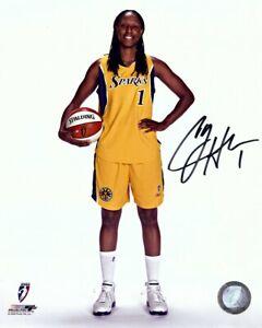 Chamique-Holdsclaw-Signed-Autographed-8X10-Photo-Sparks-w-Basketball-WNBA-w-COA