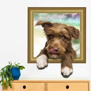 Wandtattoo-Wandsticker-Wandbild-Haustiere-Hund-Welpe-Kinderzimmer-3D-179