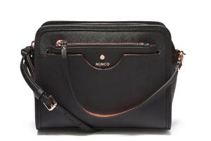 Authentic-Mimco-Phenomena-Hip-Hand-Bag-Saffiano-Leather-Handbag-Black-Crossbody
