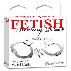 PD3800-00-PIPEDREAM-Fetish-Metal-Cuffs-Manette-dell-039-Amore-in-Metallo-Nikel-Free