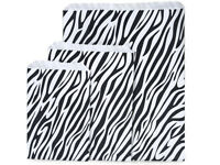 Lot Of 100 Zebra Print Merchandise Bags Gift Bags Store Bags Paper Bags