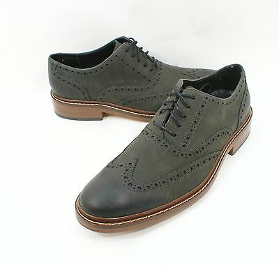 Cole Haan 'Colton' Wingtip Oxfords Gray Leather Shoe Size 8.5