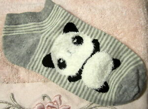 Panda-Bear-Socks-Gray-amp-White-Womens-Girls-Unisex