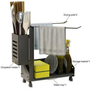 Kitchen-Sink-Caddy-Tidy-Storage-Holder-Rack-Sponge-Dish-Cleaning-Organizer