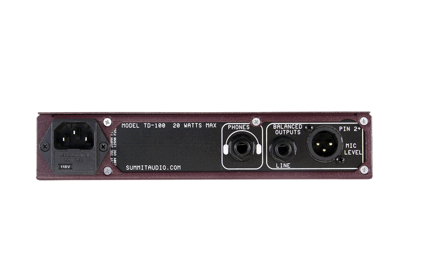 Summit Audio TD-100 TD-100 TD-100 Rack Mount Instrument Preamp Direct Box- Made in USA 3f7f0a