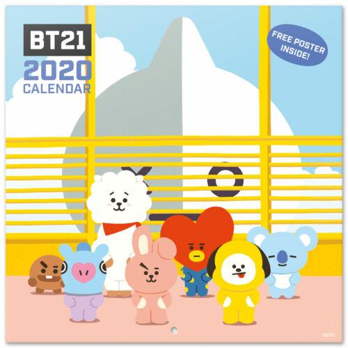 Offizieller Kalender mit Poster 2020 BT21 Größe 30x30 cm