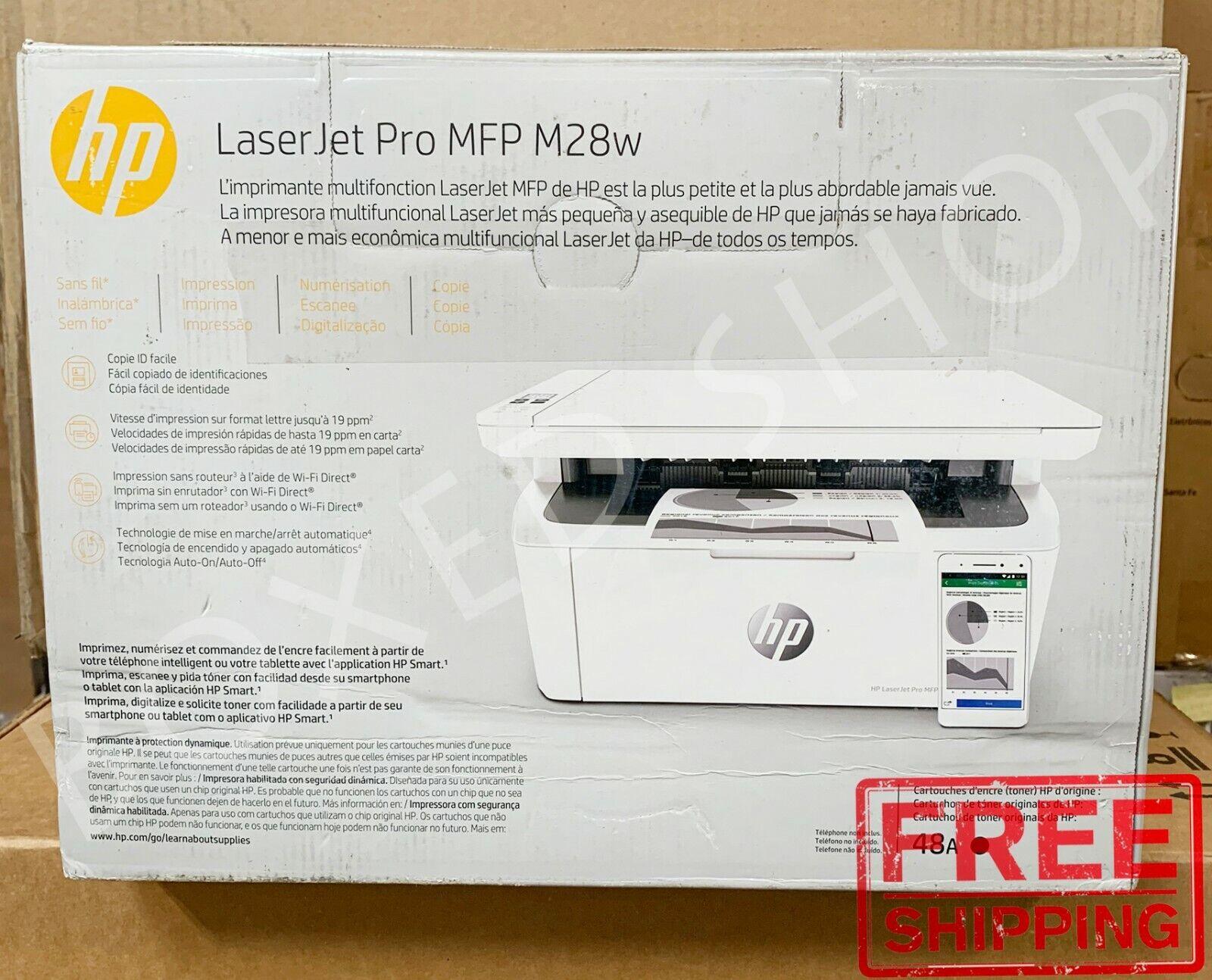 HP W2G55A LaserJet Pro MFP M28w 32MB Printer - White